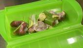 鶏砂肝とごぼうのカレー