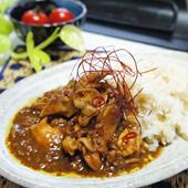 舞茸と挽き肉のピリ辛和風カレー