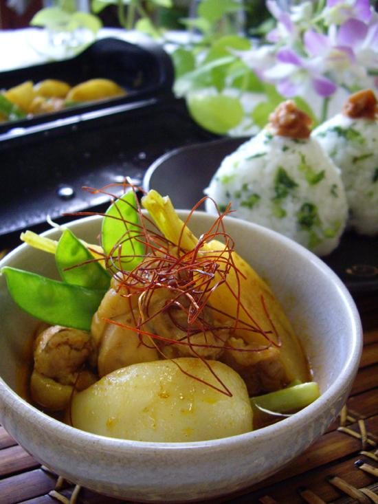 蕪と鶏の和風カレースープ