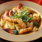 豆腐と海老のカレー煮込み
