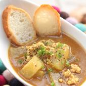 冬瓜と挽肉のカレースープ