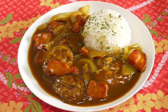 炙りベーコン&とろ茄子カレー