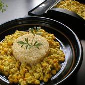 くずし豆腐とコーンのカレー