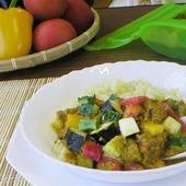 夏野菜サイコロサラダカレー