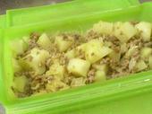 カレー風味のポテトミートグラタン