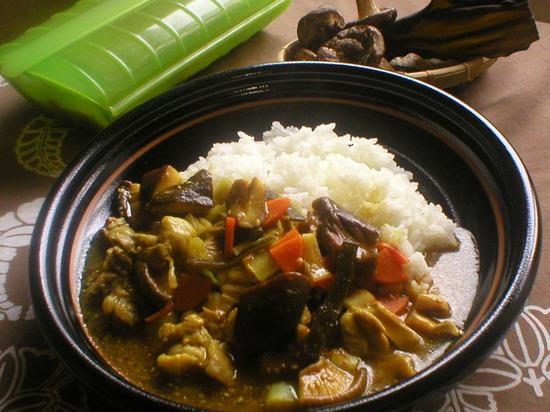 干し椎茸と昆布の和風チキンカレー